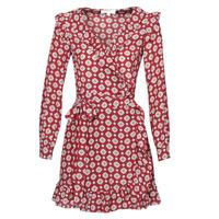 material Women Short Dresses MICHAEL Michael Kors LUX PINDOT WRAP DRS Bordeaux