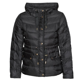 material Women Duffel coats MICHAEL Michael Kors LOGO GROSGRAIN PUFFER Black