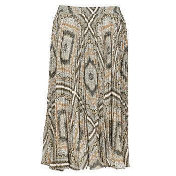 material Women Skirts MICHAEL Michael Kors MEDALLION PLTED SKIRT Multicolour