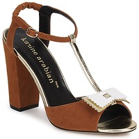 Shoes Women Sandals Karine Arabian ABBAZIA Sable / White / Gold