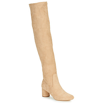 Shoes Women High boots Vanessa Wu CUISSARDES À TALON ROND Beige