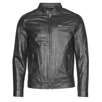 material Men Leather jackets / Imitation le Selected SLHC01 Black