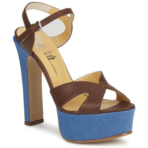 Shoes Women Sandals Keyté CUBA-LUX-MARRONE-FLY-9 Brown