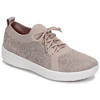 Shoes Women Low top trainers FitFlop F-SPORTY UBERKNIT SNEAKERS - METALLIC WEAVE Mauve