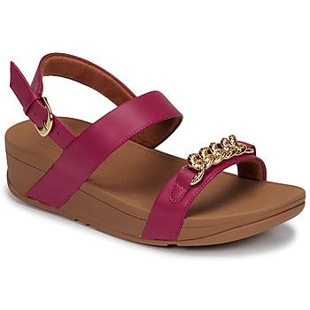 Shoes Women Sandals FitFlop LOTTIE CHAIN BACK-STRAP SANDALS Fuschia