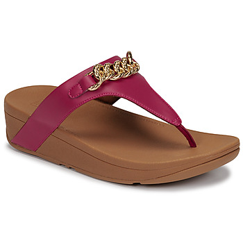 Shoes Women Sandals FitFlop LOTTIE CHAIN TOE-THONGS Fuschia