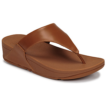 Shoes Women Sandals FitFlop LULU LEATHER TOEPOST Caramel