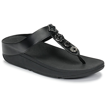 Shoes Women Flip flops FitFlop FINO CIRCLE TOE-THONGS Black