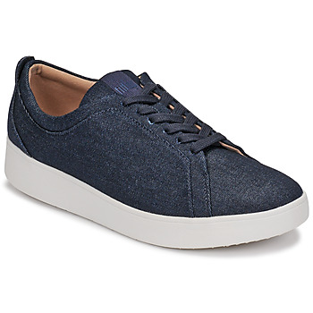 Shoes Women Low top trainers FitFlop RALLY DENIM Blue