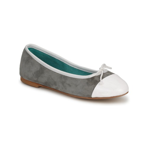 Shoes Women Ballerinas Les Lolitas FELL White-grey