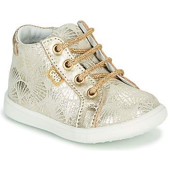 Shoes Girl High top trainers GBB FAMIA Crt / Beige or / Dpf / Messi