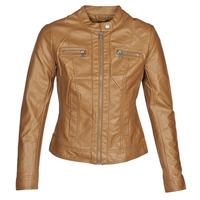 material Women Leather jackets / Imitation le Only ONLBANDIT Cognac