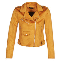 material Women Leather jackets / Imitation le Only ONLSHERRY BONDED Cognac