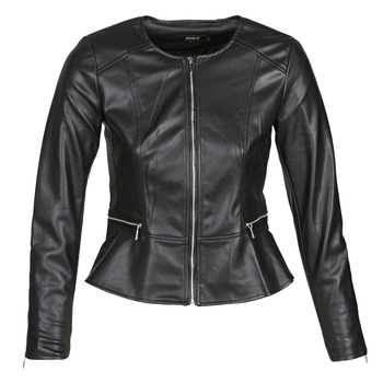 material Women Leather jackets / Imitation le Only ONLJENNY Black