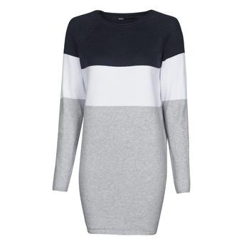 material Women Short Dresses Only ONLLILLO Marine / White / Grey