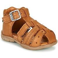 Shoes Boy Sandals GBB ARIGO Vte / Camel / Dpf / Filou