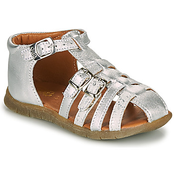 Shoes Girl Sandals GBB PERLE Vte / Silver / Dpf / Nemo