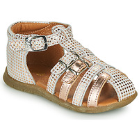 Shoes Girl Sandals GBB PERLE White / Pink
