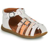 Shoes Girl Sandals GBB PERLE White / Orange