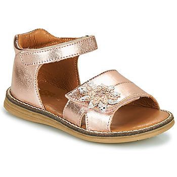 Shoes Girl Sandals GBB SATIA Vte / Gold / Pink / Dpf / Vipera