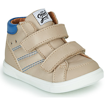 Shoes Boy High top trainers GBB MORISO Beige