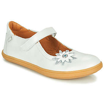 Shoes Girl Ballerinas GBB FANETTA Vte / White / Mother-of-pearl / Dpf / Cuba