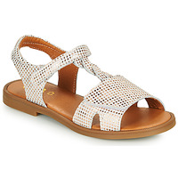 Shoes Girl Sandals GBB FARENA White / Pink / Gold