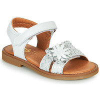 Shoes Girl Sandals GBB UPPLA White / Silver