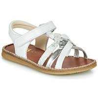 Shoes Girl Sandals GBB SUMY White / Silver