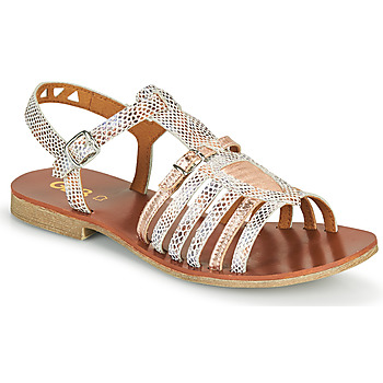 Shoes Girl Sandals GBB FANNI White / Pink / Gold