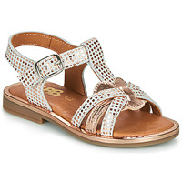 Shoes Girl Sandals GBB EGEA White / Pink / Gold