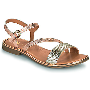 Shoes Girl Sandals GBB FANA Pink / Gold / Gold