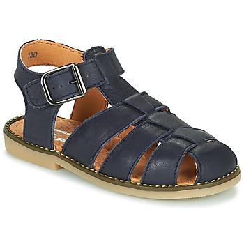 Shoes Boy Sandals Little Mary BREHAT Blue