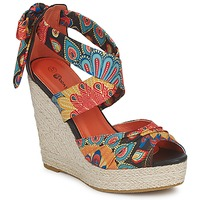 Shoes Women Sandals Moony Mood FIRNIL Black / Multicoloured