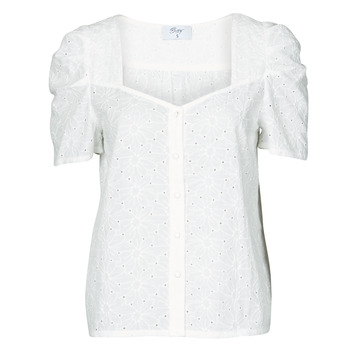 material Women Blouses Betty London OOPSO White