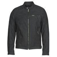 material Men Leather jackets / Imitation le Jack & Jones JJEROCKY Black