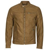 material Men Leather jackets / Imitation le Jack & Jones JJEROCKY Cognac