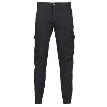 material Men Cargo trousers Jack & Jones JJIPAUL Black