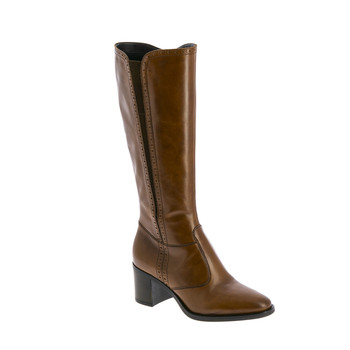 Shoes Women Boots André EOLE Cognac