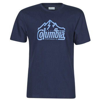 material Men short-sleeved t-shirts Columbia M PATH LAKE GRAPHIC TEE Blue