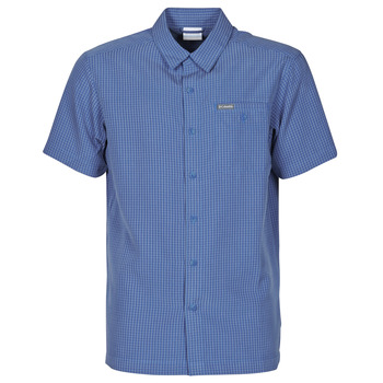 material Men short-sleeved shirts Columbia LAKESIDE TRAIL Blue