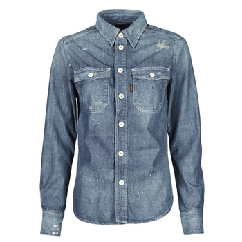material Women Shirts G-Star Raw KICK BACK WORKER SHIRT WMN L\S Blue / Medium