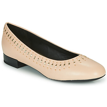Shoes Women Ballerinas Geox D WISTREY Pink / Gold