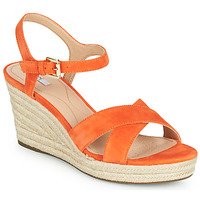 Shoes Women Low top trainers Geox D SOLEIL Orange