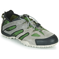 Shoes Men Low top trainers Geox UOMO SNAKE Grey / Green