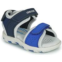 Shoes Boy Sandals Geox B SANDAL PIANETA Blue