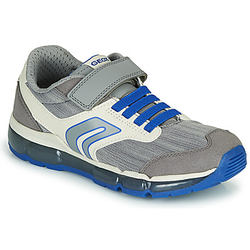 Shoes Children Low top trainers Geox J ANDROID GARÇON Grey / Blue