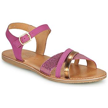 Shoes Sandals Geox J SANDAL EOLIE GIRL Pink / Gold
