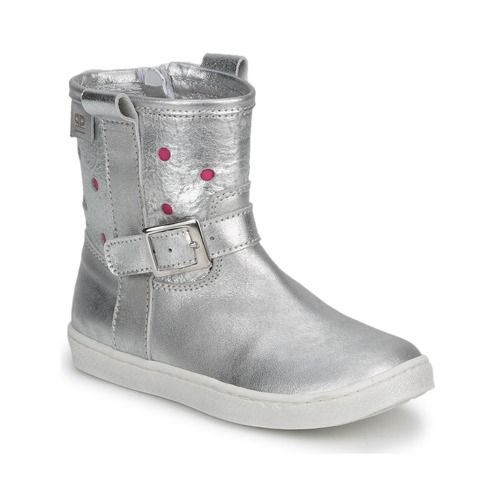 Shoes Girl Mid boots Pinocchio  Silver / Fucia