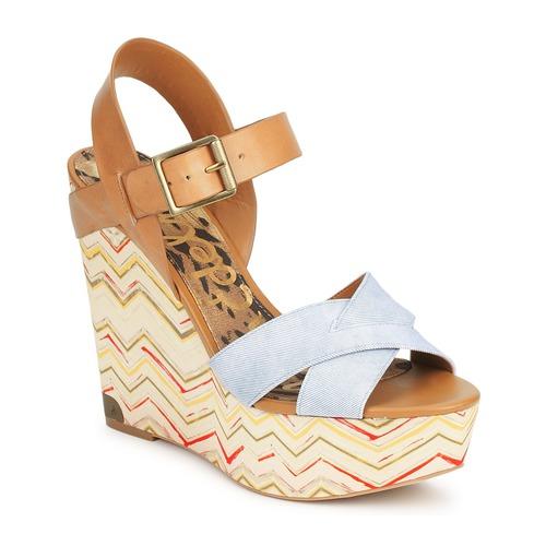 Shoes Women Sandals Sam Edelman SASHA Denim washed